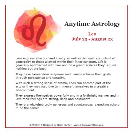 Anytime Astrology Leo