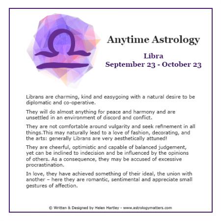 Anytime Astrology Libra