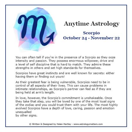 Anytime Astrology Scorpio
