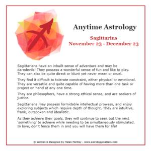 Anytime Astrology Sagittarius