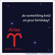 Happy Birthday Aries
