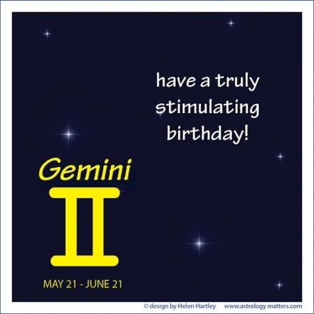 Birthday Greeting Gemini