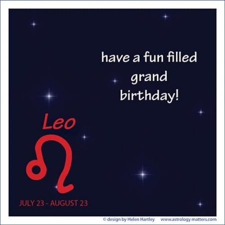 Birthday Greeting Leo