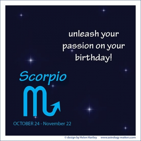 Birthday Greeting Scorpio