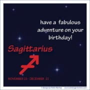 Birthday Greeting Sagittarius