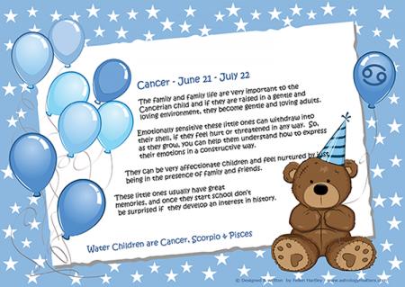 Zodiac Child Balloon Cancer