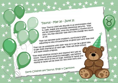 Zodiac Child Balloon Taurus