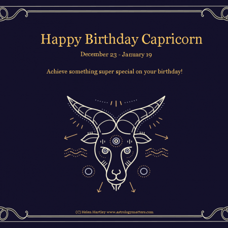 Capricorn Birthday 2021