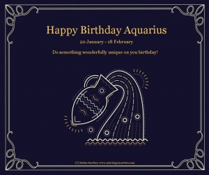 Aquarius Birthday 2021