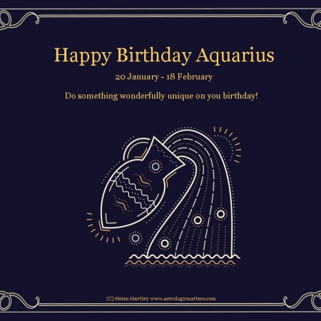 Aquarius Birthday 2021